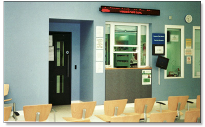 interior shot of the waiting room